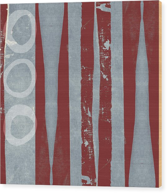 Designer Series Red And Blue 8 Of 11 Wood Print