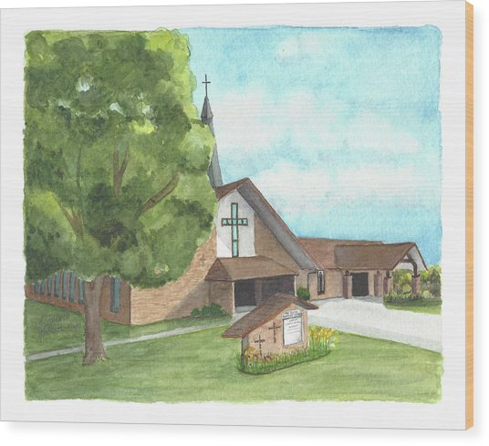 De Soto Baptist Church Wood Print