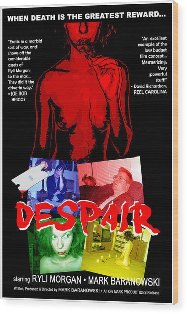 Despair Poster Wood Print