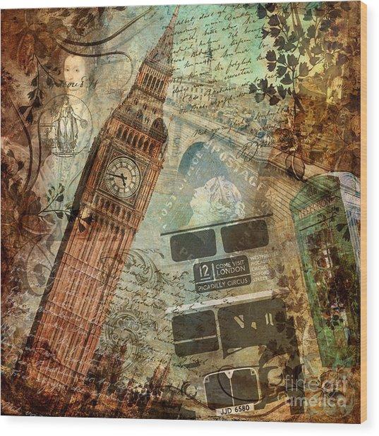 Destination London Wood Print