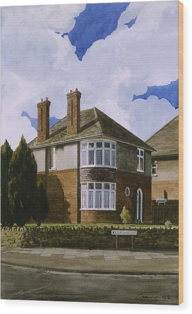 Detached Wood Print by Andrew Crane