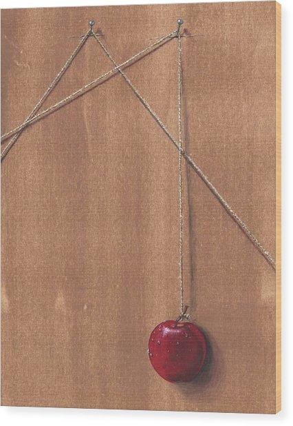 Detail Of Balanced Temptation. Wood Print