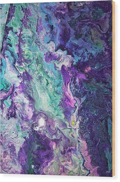 Detail Of Waves 3 Wood Print