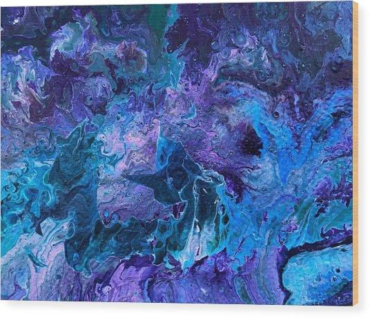 Detail Of Waves 5 Wood Print
