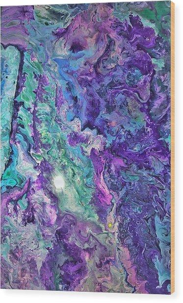 Detail Of Waves Wood Print