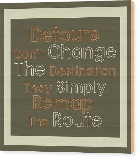 Detour Wood Print by Richard Homawoo