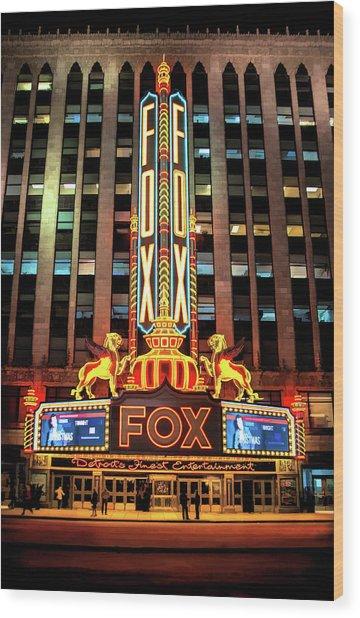Detroit Fox Theatre Marquee Wood Print