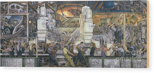 Detroit Industry   North Wall Wood Print