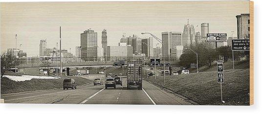 Detroit Michigan Wood Print