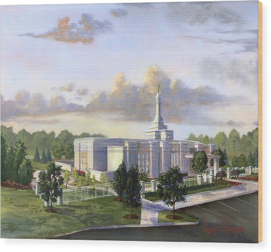 Detroit Michigan Temple Wood Print