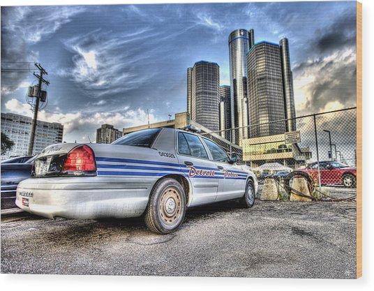 Detroit Police Wood Print