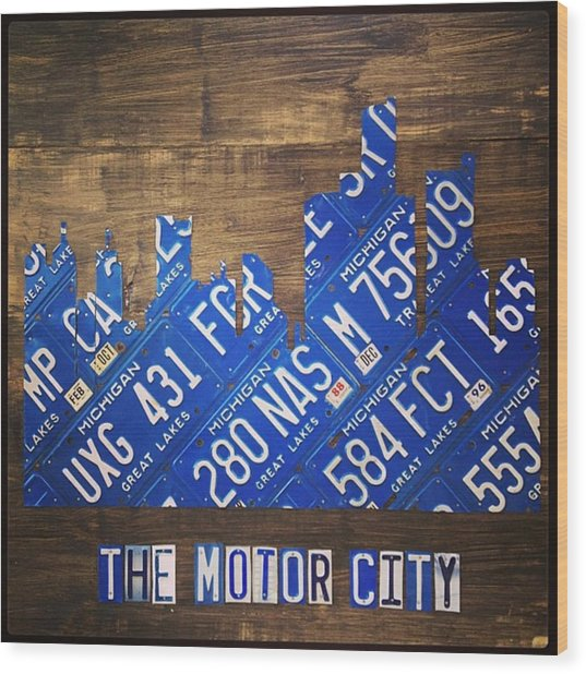 #detroit #themotorcity #michigan #city Wood Print