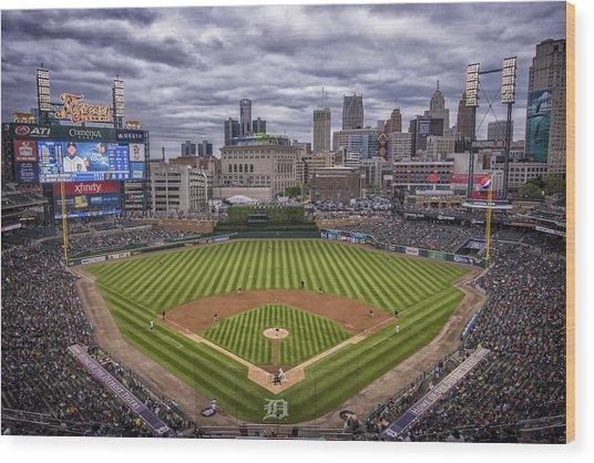 Detroit Tigers Comerica Park 4837 Wood Print