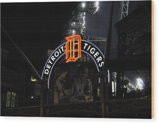 Detroit Tigers Wood Print