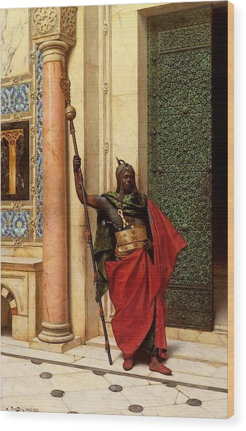 Deutsch Ludwig A Nubian Guard Wood Print