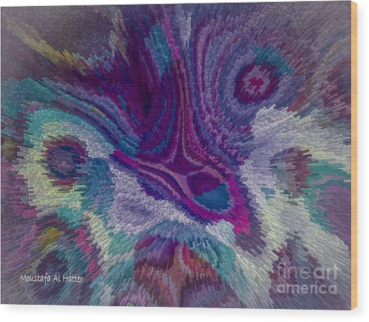 Genetic Modified Iris Wood Print