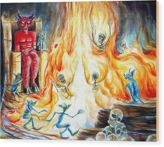 Devil's Inferno II Wood Print
