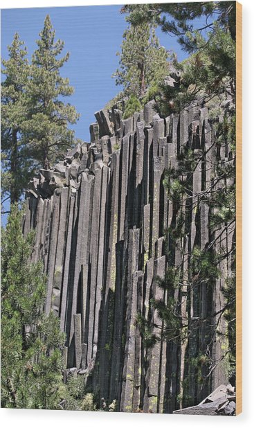 Devils Postpile National Monument - Mammoth Lakes - East California Wood Print