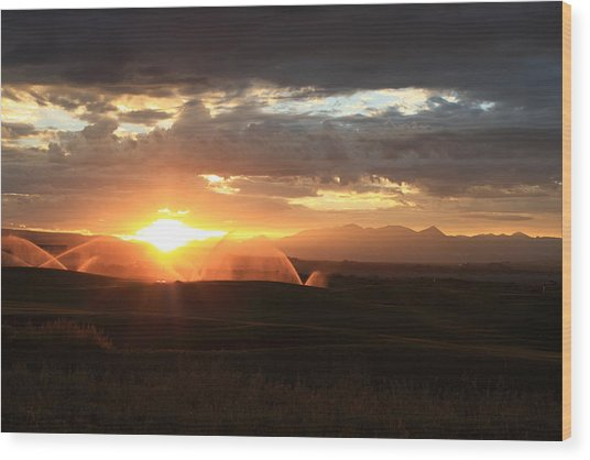 Devils Thumb Sunrise Wood Print by Kevin Justin