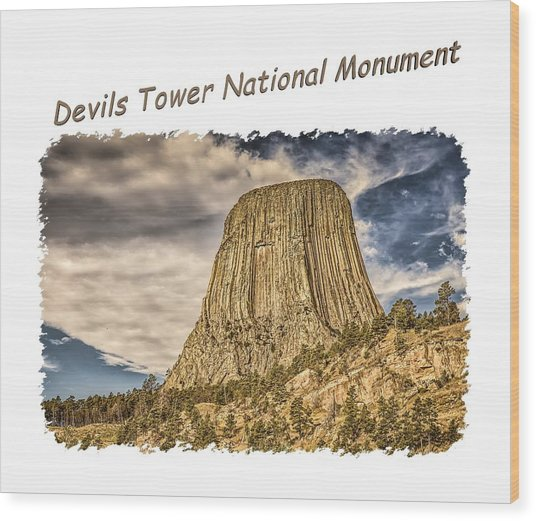 Devils Tower Inspiration 2 Wood Print
