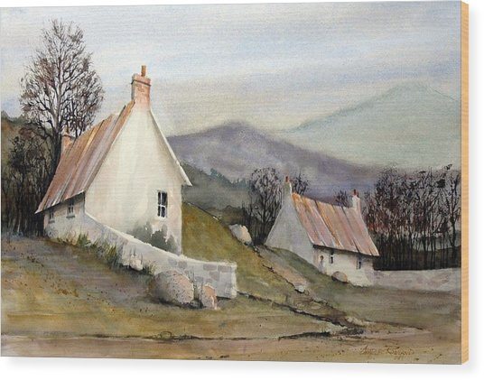 Devonshire Cottage I Wood Print by Charles Rowland
