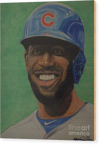 Dexter Fowler Portrait Wood Print