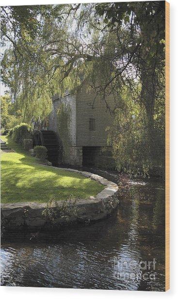 Dexter Mill Race In Sandwich Massachusetts Wood Print