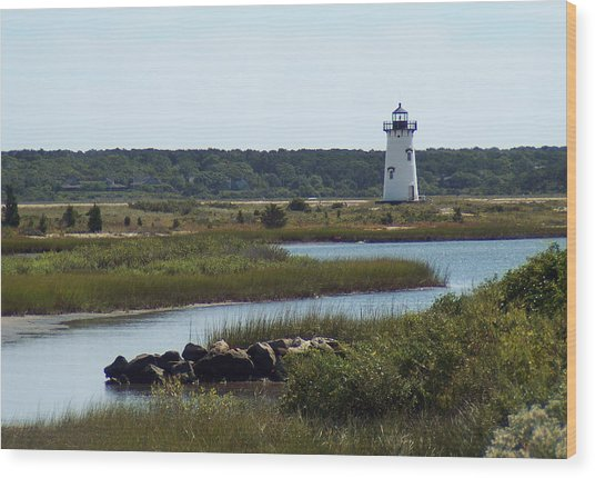Edgartown Harbor Lighthouse Wood Print