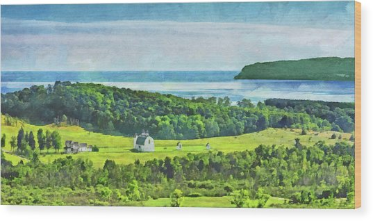 D. H. Day Farmstead At Sleeping Bear Dunes National Lakeshore Wood Print