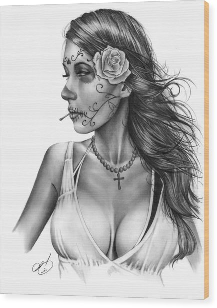 Dia De Los Muertos 1 Wood Print
