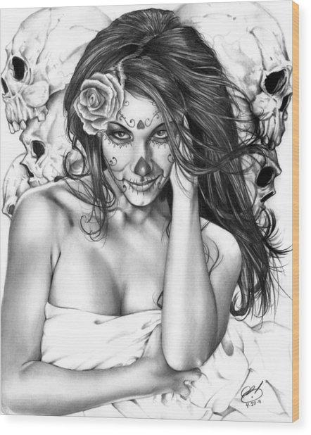 Dia De Los Muertos 2 Wood Print
