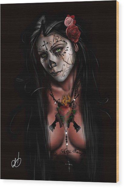 Dia De Los Muertos 3 Wood Print