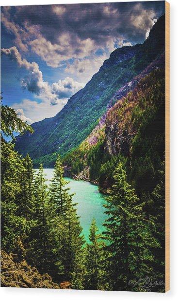 Diablo Lake Wood Print