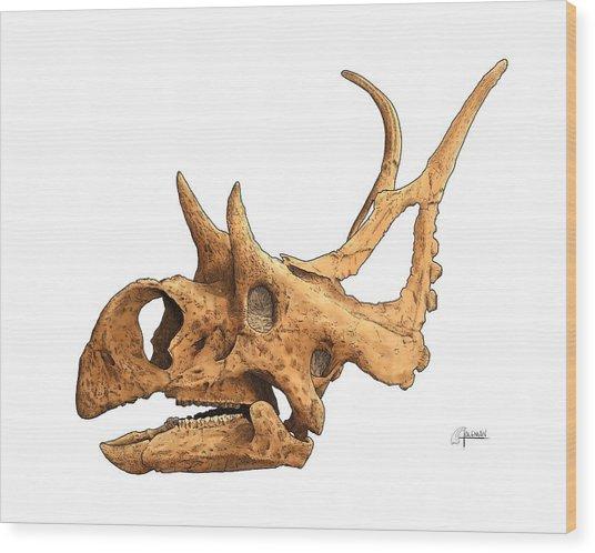 Diabloceratops Wood Print