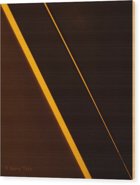 Diagonals Wood Print