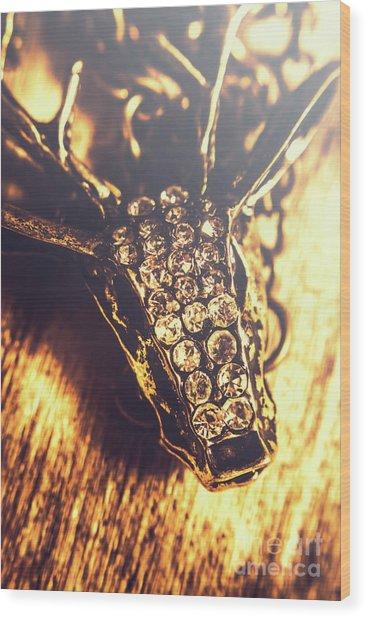 Diamond Encrusted Wildlife Bracelet Wood Print