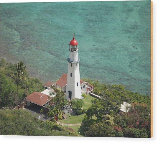 Diamond Head Lighthouse 2 Wood Print