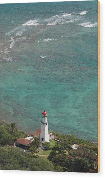 Diamond Head Lighthouse 3 Wood Print
