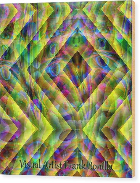 Wood Print featuring the digital art Diamond In The Grass by Visual Artist Frank Bonilla