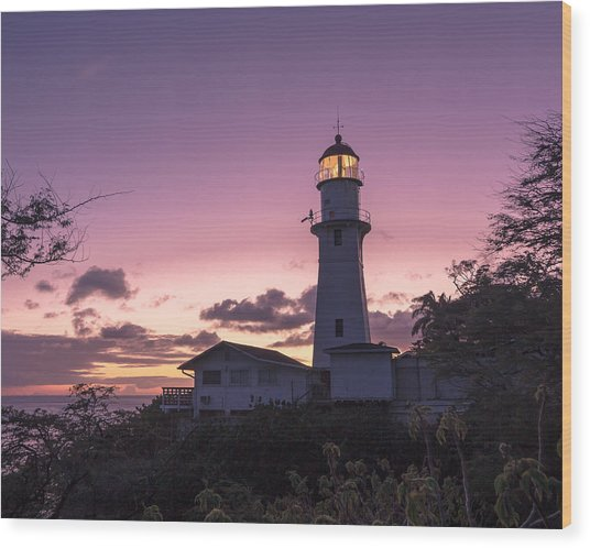 Diamondhead Lighthouse Wood Print