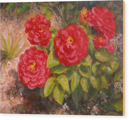 Diane's Roses Wood Print by Donelli  DiMaria