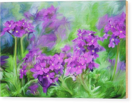 Dianthus Flowers Wood Print by Frank Tschakert