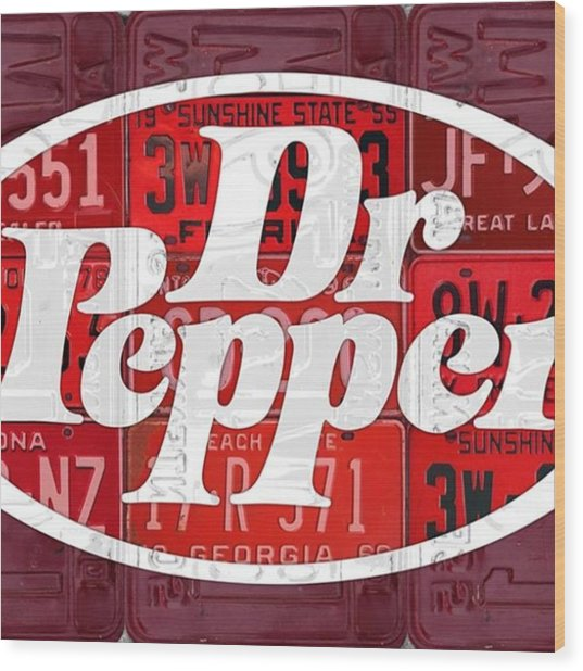 Did You Know #drpepper Was Created And Wood Print