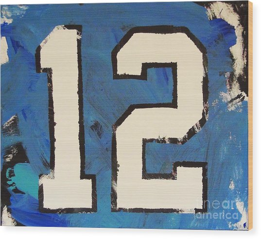 Diehard 12th Man Wood Print