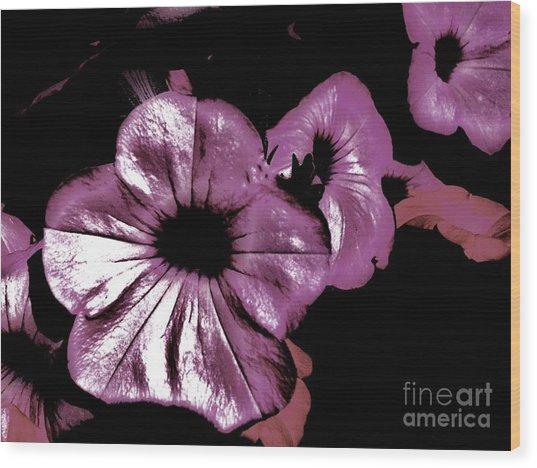 Digital Petunia Wood Print by Marsha Heiken