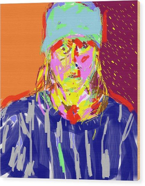Digital Self Portrait Wood Print