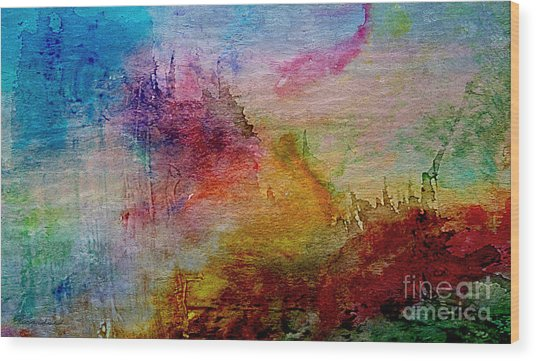 1a Abstract Expressionism Digital Painting Wood Print