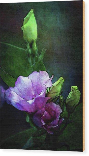 Digital Watercolor Elegance 3700 W_2 Wood Print