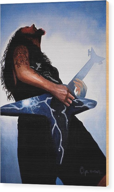Dimebag Is Gd Electric Wood Print