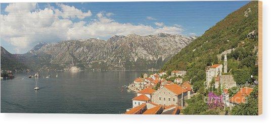 Dinaric Alps And Kotor Bay Wood Print by Matt Tilghman